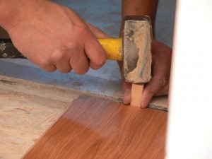 Hardwood flooring instalation on a subfloor